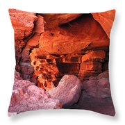 Into The Cave Throw Pillow
