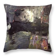 Into The Caves Throw Pillow