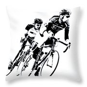 Into The Curve Throw Pillow