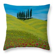 Into The Cypress Land Throw Pillow