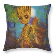 Into The Eyes Of Baby Groot Throw Pillow
