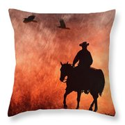 Into The Fire. Throw Pillow