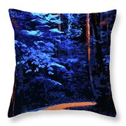 Into The Forest Of Night Throw Pillow