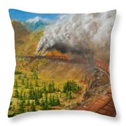 Into The Front Range Throw Pillow