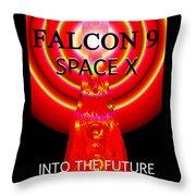 Into The Future Falcon 9 Throw Pillow