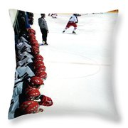 Into The Game Throw Pillow