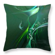 Into The Green...and Beyond... Throw Pillow