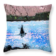 Into The Headland Throw Pillow