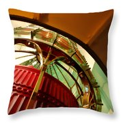 Into The Lighthouse Throw Pillow