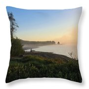 Into The Mist-ick Throw Pillow