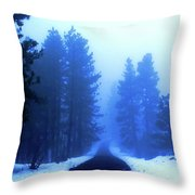 Into The Misty Unknown Throw Pillow