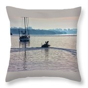 Into The Morning Light Throw Pillow