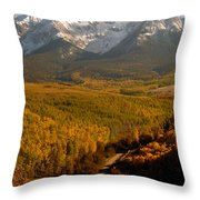 Into The Mountains Throw Pillow