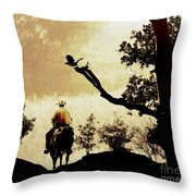 Into The Mountains. Throw Pillow