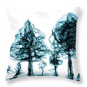 Into The Mysterious Forest Of Imagination Throw Pillow