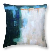 Into The Navy Blue Throw Pillow