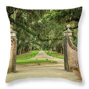 Into The Oaks Throw Pillow