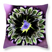 Into The Purple Throw Pillow