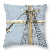 Into The Rigging Throw Pillow