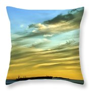 Into The Sunset Throw Pillow