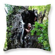 Into The Tree Throw Pillow