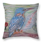 Into The Tropics The Philippine Kingfisher  Throw Pillow