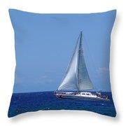 Into The Wild Blue Ocean Throw Pillow