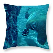 Into The Wild Blue Throw Pillow