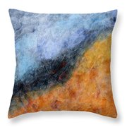 Into The Wind Abstract Throw Pillow