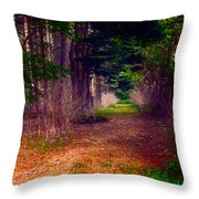 Into The Woods Throw Pillow