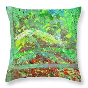 Into The Woods-through The Looking Glass Throw Pillow