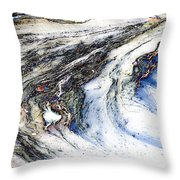 Into White Throw Pillow