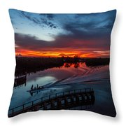 Intracoastal Sunset Throw Pillow