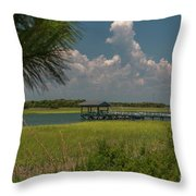 Intracoastal Water In Sullivan's Island South Carolina Throw Pillow
