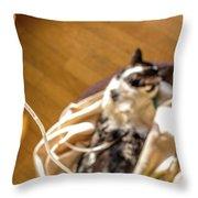 Intravenous Drip Cat Throw Pillow