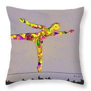 Intrepid On A Tight Rope Throw Pillow