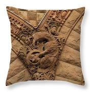 Intricate Cuts, Curves, Lines And Angles At Old City Hall  Throw Pillow