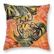 Intricate Intimacy Throw Pillow