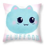 Introducing Fluffoon The Cutest Fluff In The World Throw Pillow