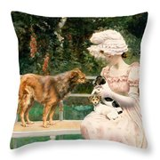 Introductions Throw Pillow by Charles Henry Tenre