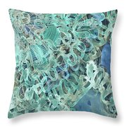 Intuition Unraveled Deep Ocean Throw Pillow