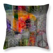 Intuitional Abstract Throw Pillow