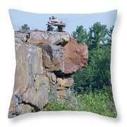 Inukshuk 4 Throw Pillow