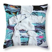 Inukshuk Strata 4 Throw Pillow
