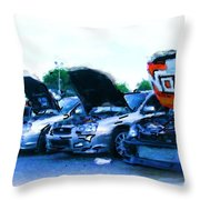 Invasion Of The Import Cars Throw Pillow