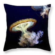 Invasion Of The Japanese Sea Nettles Throw Pillow