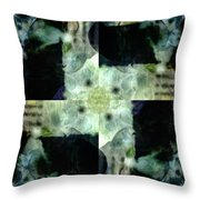 Invented Places, Mandala Series, Path With Flowers Throw Pillow