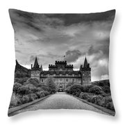 Inveray Grey Throw Pillow