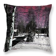 Invernal Landscape Throw Pillow