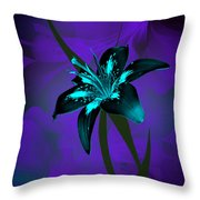 Inverse Lily Throw Pillow